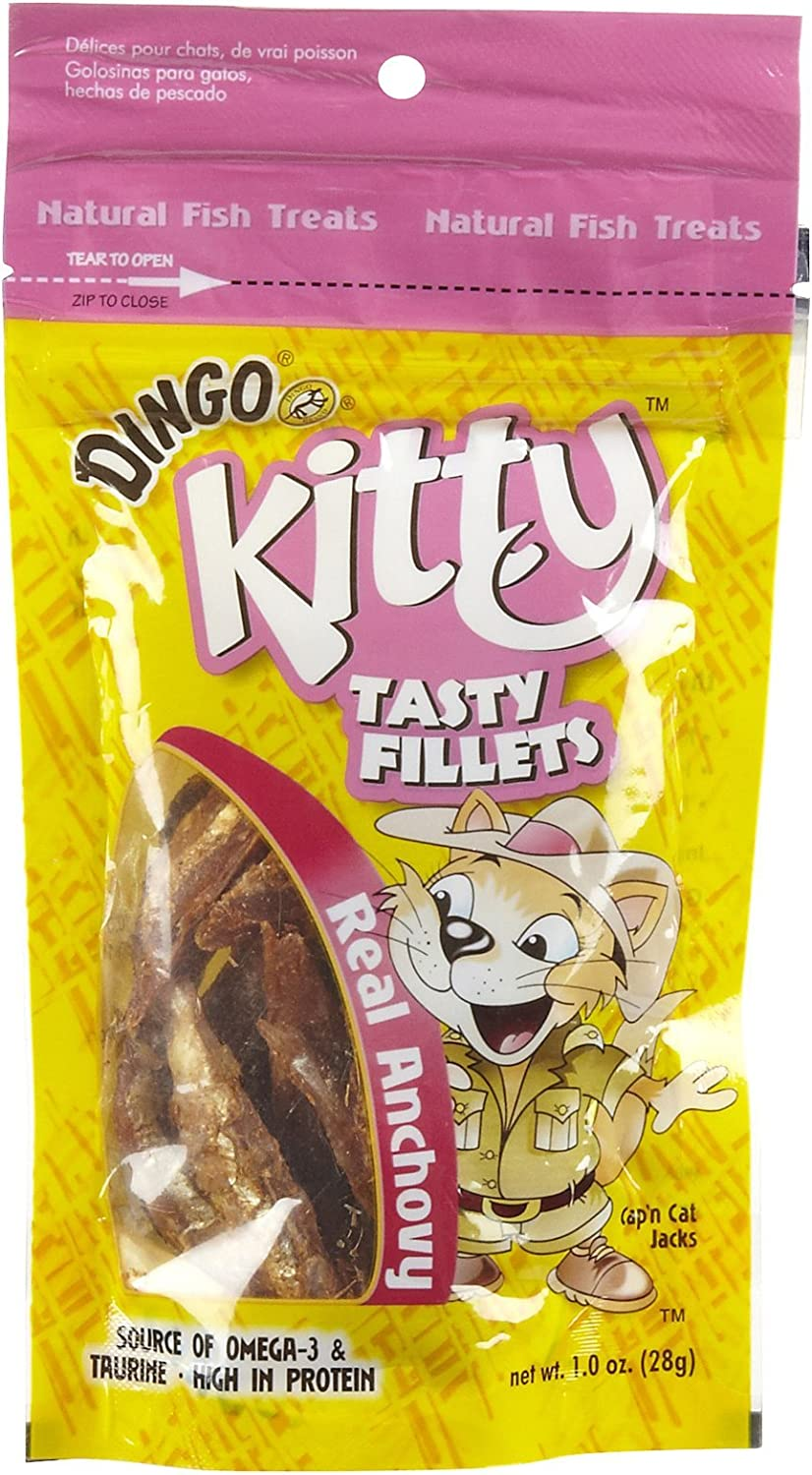 Amazon.com : Dingo Kitty Anchovy Fillets, 1-Ounce : Pet ...