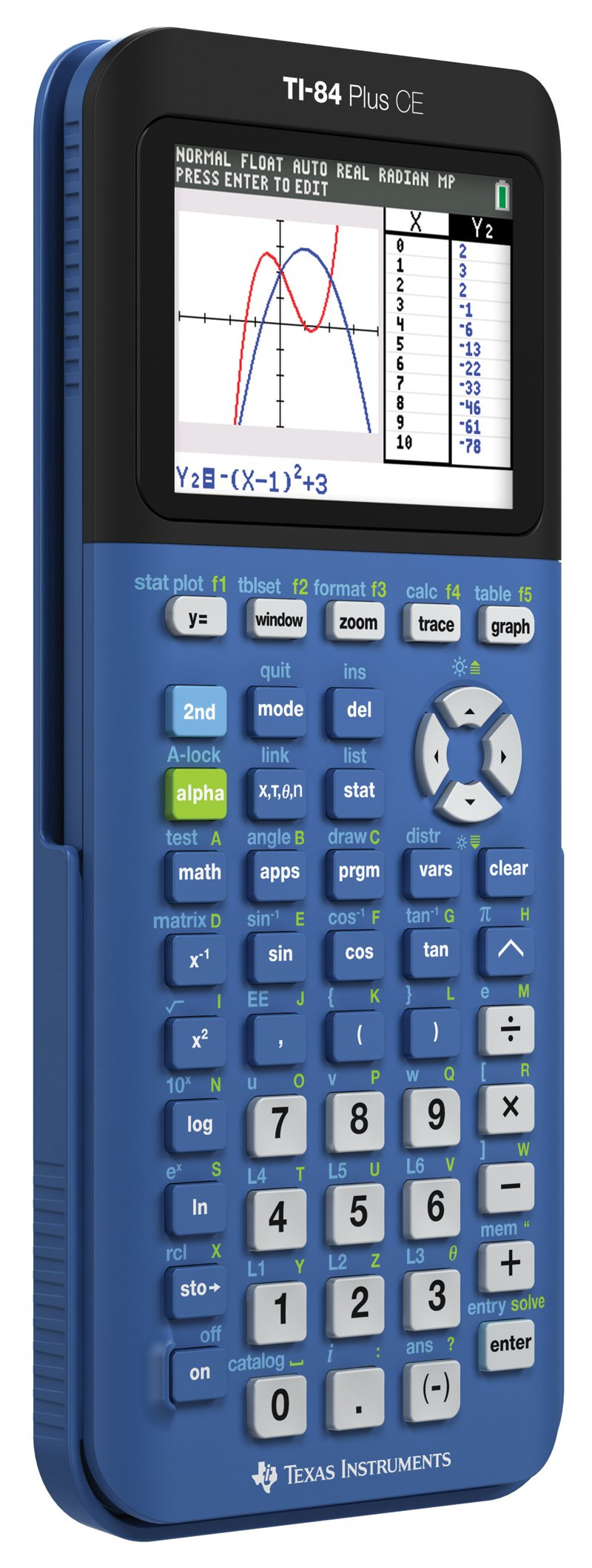 Texas Instruments TI-84 Plus CE Blueberry Graphing Calculator by Texas Instruments (Image #3)
