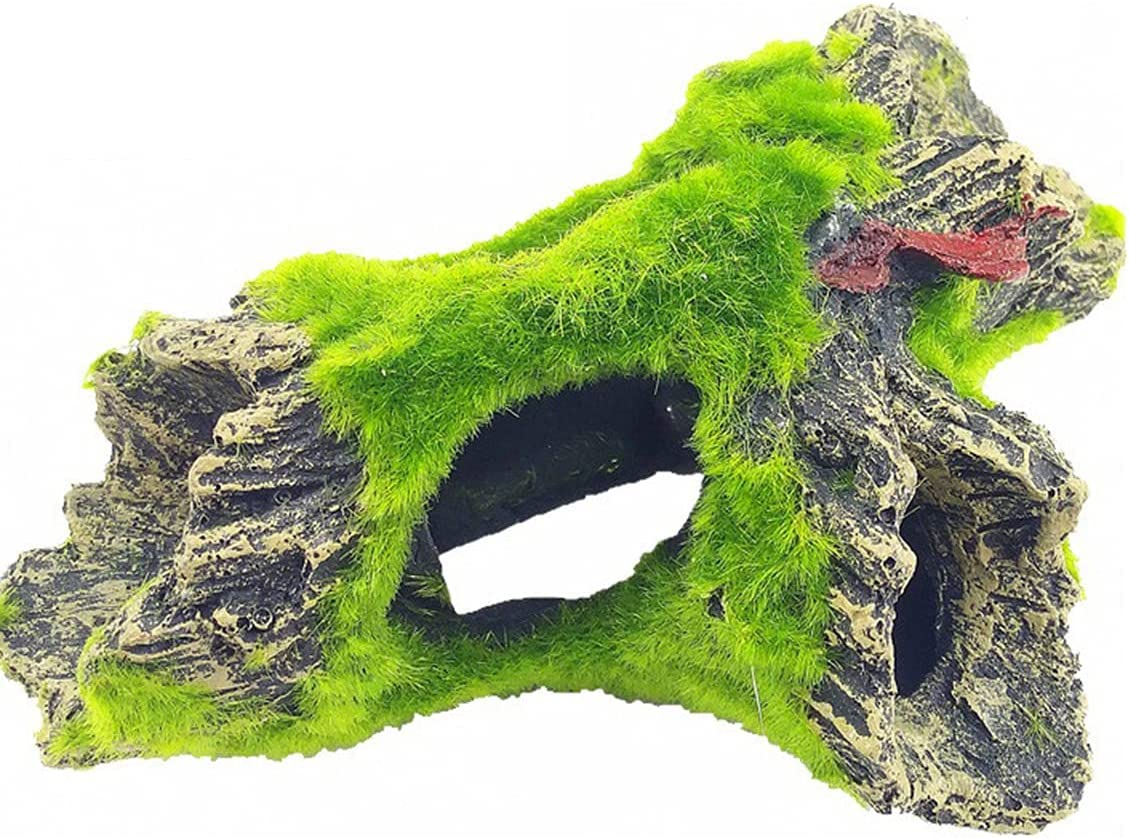 N\O Decorazione per acquario in resina, decorazione per la casa, per la decorazione della casa Rock Cave artificiale in cotone, accessorio per acquario, paesaggio