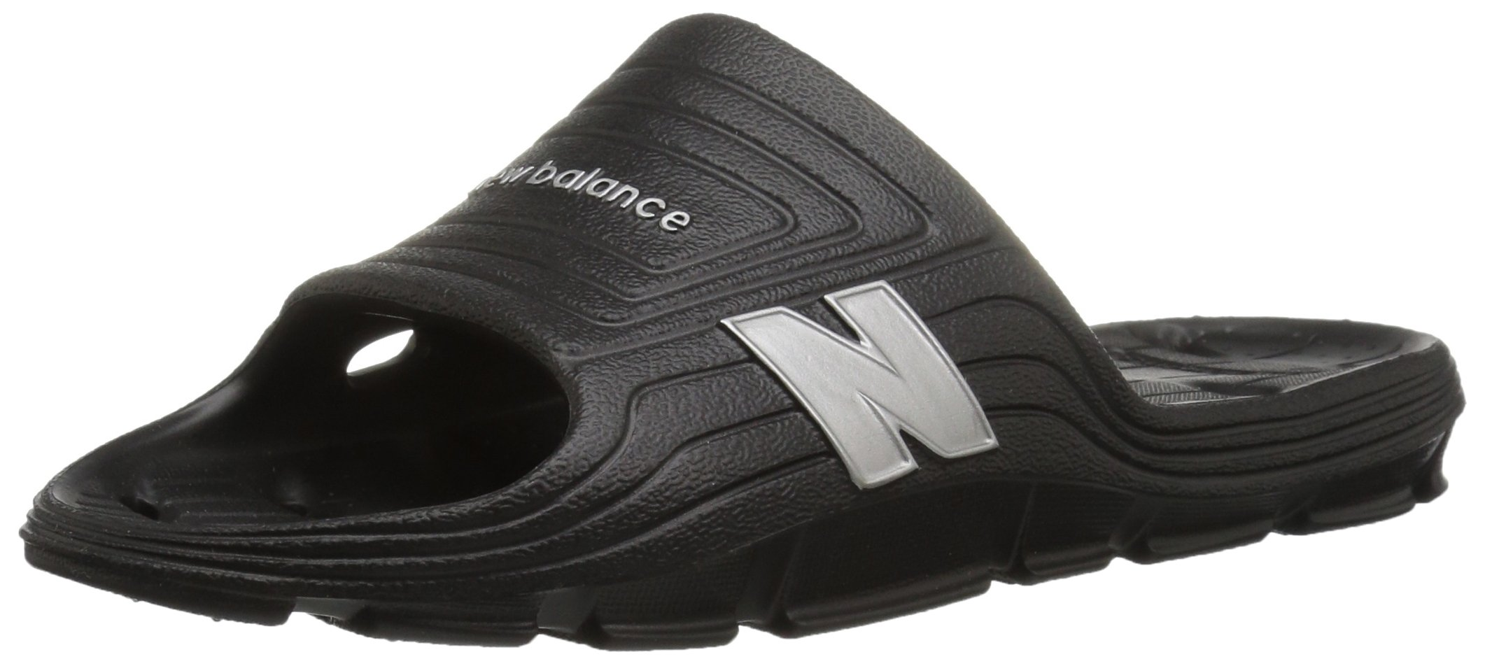 New Balance Men's Float Slide, Black/Silver, 10 D US by New Balance