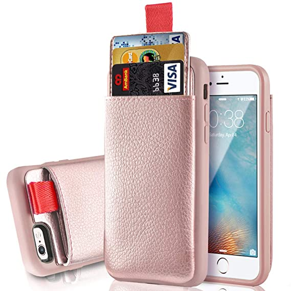 separation shoes ef105 5d43b iPhone 6/6S Wallet Case, iPhone 6S Card Holder Case, LAMEEKU iPhone 6  Leather Case with Credit Card Holder Slot ID Card Pockets Protective Cover  ...