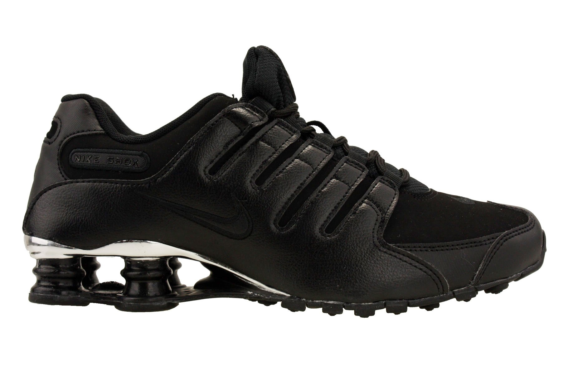 5e5fb7e7ca5 Galleon - Nike Mens Shox NZ Premium Running Shoes Black Chrome 536184-001  Size 10