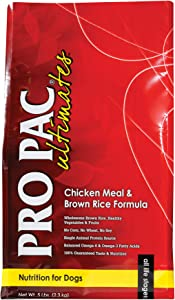 Pro Pac Ultimates Chicken Meal And Brown Rice Dry Dog Food, 5 Lb.