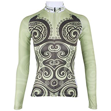 d2a681a08 Amazon.com  QinYing Women Cycling Jersey Top Vintage Floral Long Sleeve  Sports Shirts  Clothing