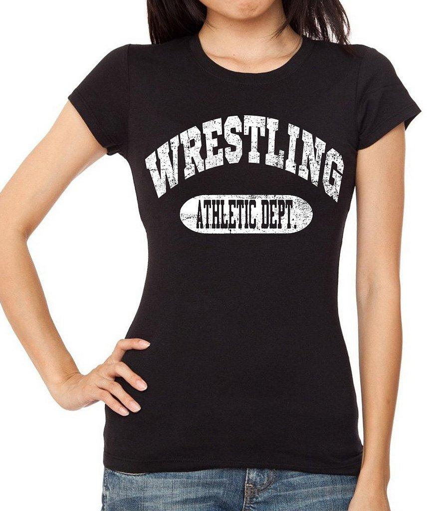 Junior's Wrestling Athletic Dept. Black T-Shirt 2X-Large Black
