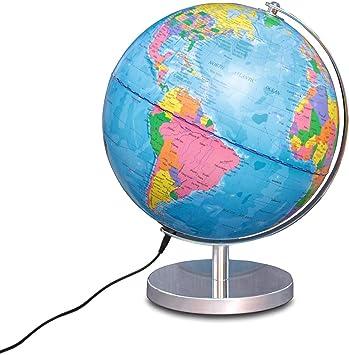 Globo Esfera iluminada Magellan Albion con Imagen de Mapa político e iluminación LED económica, diámetro 25 cm, Esfera con Base metálica en Color latón y meridiano 25 cm: Amazon.es: Electrónica