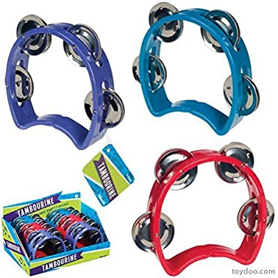 Toysmith Small Tambourine with 4 Bells: Toys & Games
