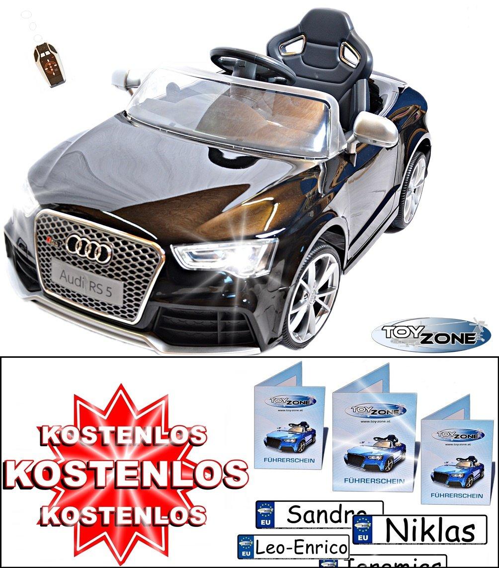 ToyZone Kinderfahrzeug 12V Kinder Elektro Auto Ride on Audi RS5 ...
