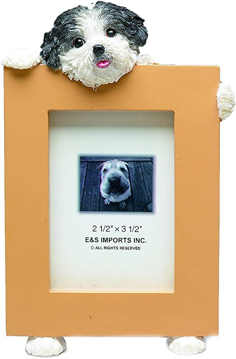 DECO Mini Sign SHIHPOO Dog Wood Ornament Gift All Breeds Here New in Pkg USA