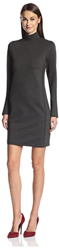 SOCIETY NEW YORK Women's Seamed Turtleneck Dress