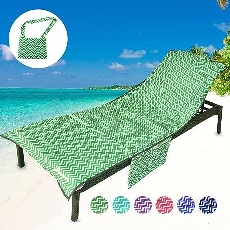 3f840a0e3c5 Amazon.com   YOULERBU Thickened Beach Chair Cover Towel