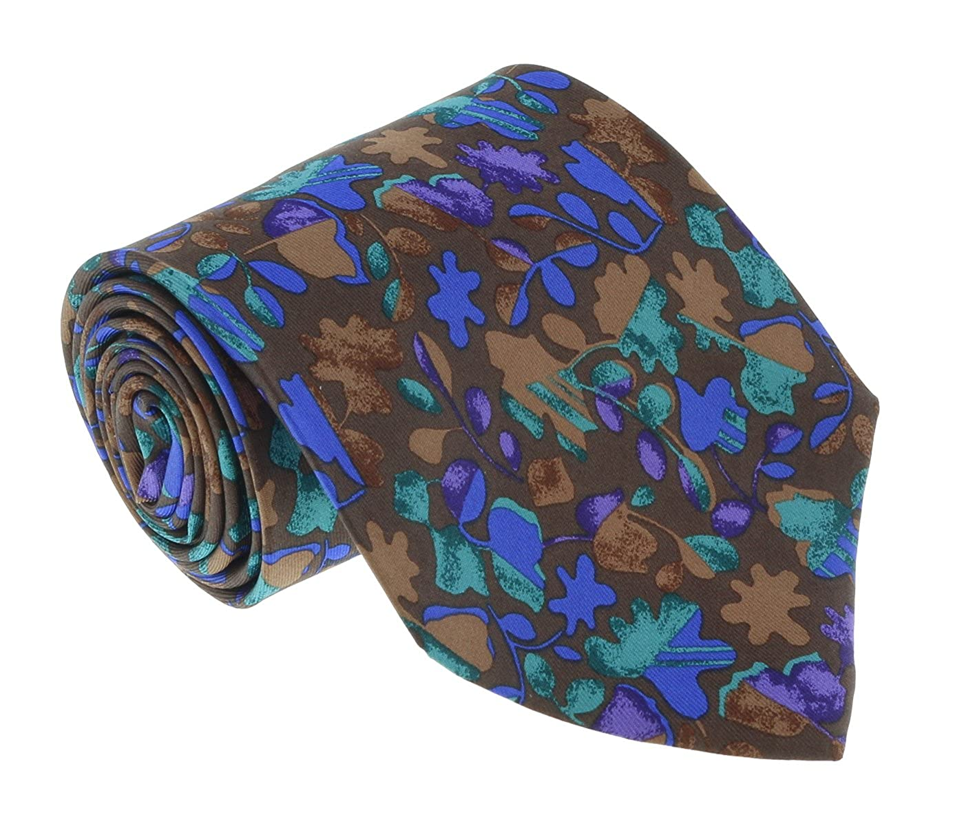 Missoni U1444 Brown//Blue Floral 100/% Silk Tie for mens