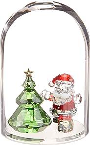 SWAROVSKI Bell Jar Tree & Santa Christmas Décor, Clear