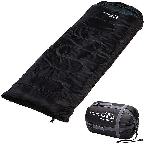 skandika Skye - Saco de Dormir Rectangular - 220x75 cm - acoplable - Peso 1.300 g