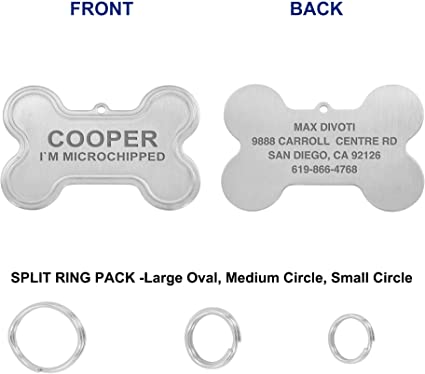Engravable Titanium Steel Stainless Cat Pet Dog Tag ID Name