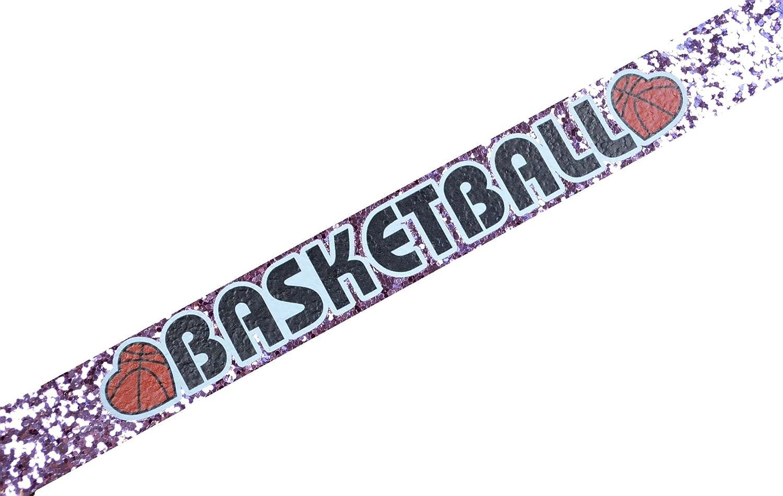 Funny Girl DesignsバスケットボールGlitter伸縮性ヘッドバンドのガールズと大人  ライトピンク B00KH7NI00
