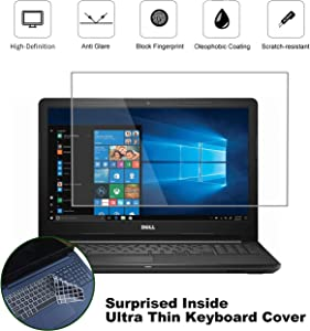 """KEANBOLL 2 Pack 15.6"""" Matte Anti-Glare Screen Protector for Dell Inspiron 15 5000 7000 