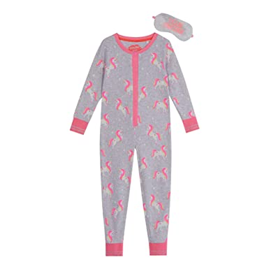 8aa73b788a bluezoo Kids Girls  Unicorn Print Onesie and Eye Mask Set Age 2-14 Years