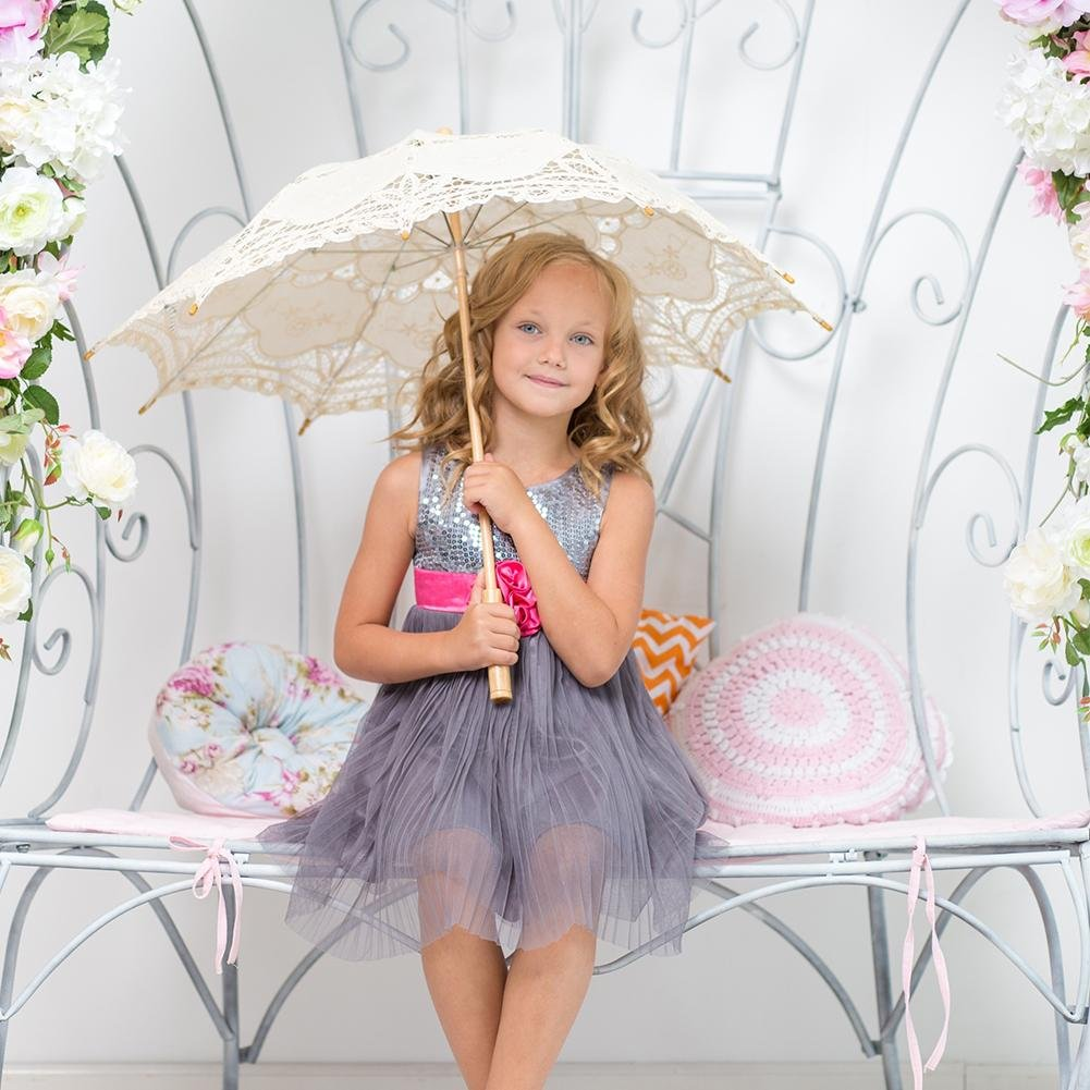 European Style Cutout Wedding Parasol Bridal Shower Decoration Umbrella, Handmade Black Lace Parasol Umbrella Custom-Made Gift Umbrella by AGSHOP (Image #5)
