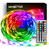 DAYBETTER Led Strip Lights 32.8ft Flexible Color Changing Led Lights 5050 RGB LED Light Strips Kit 10m with 44 Keys IR…