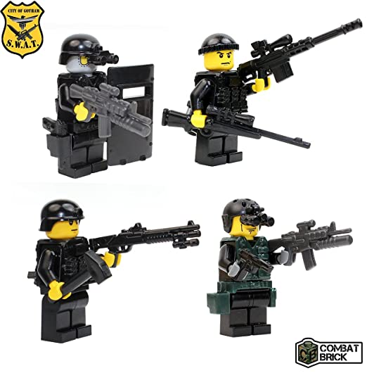 Amazon.com: Police SWAT 4 men pack Assault Team - Custom Army ...