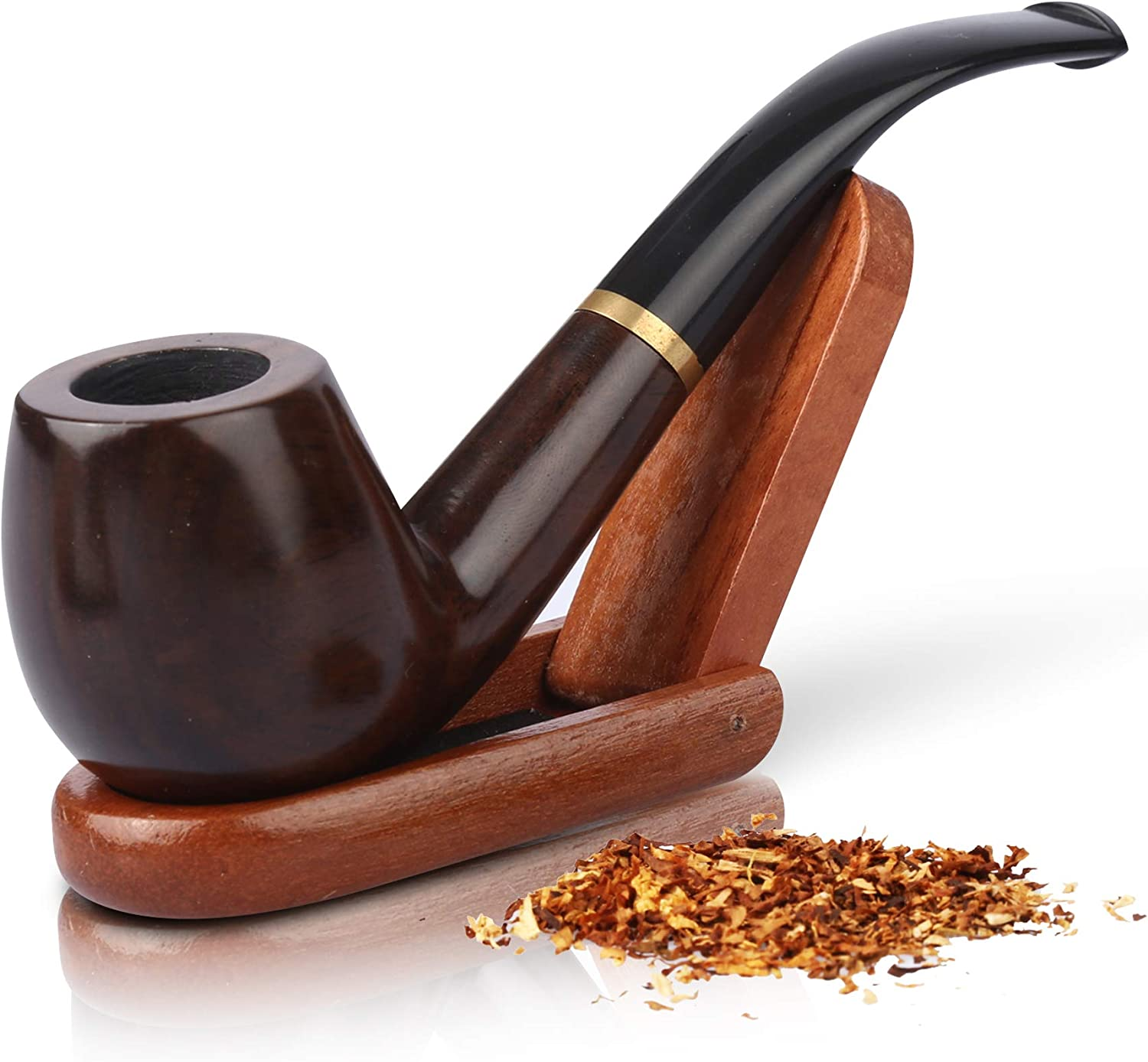Tobacco Pipe - Smoking Pipe Kit - Stylish, Cool and Distinguished Wood Pipe Set for Beginner - The Perfect Gift for a Classy Gentleman