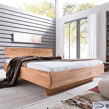 Pharao24 Bett Mit Komforthohe Kernbuche Massivholz Breite 185 Cm