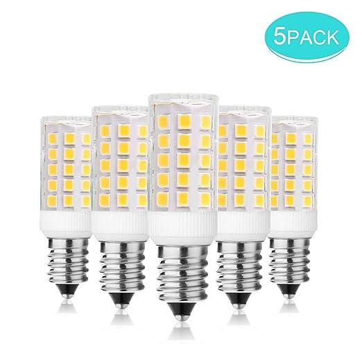 Paquete de 5 bombillas LED E14, SS SHOVAN de 4 W, sin luz estroboscópica, equivalente a ...