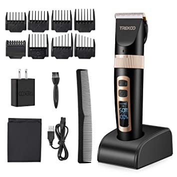 TREKOO Professional Hair Clippers Head Clippers for Men Beard Hair Trimmer  Haircut Hair Cutting Kit