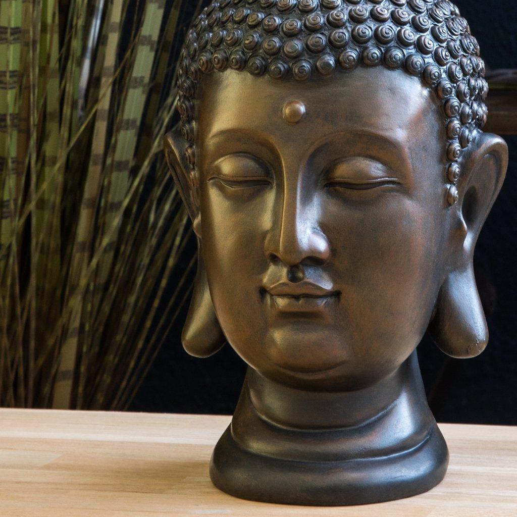 Figure 30cm décoration pour Salon Jardin ou Balcon INtrenDU Statue de Bouddha