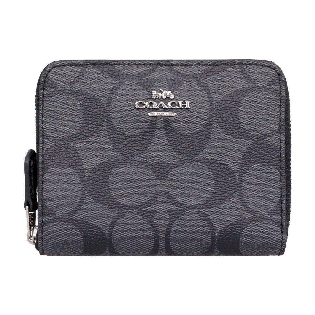 [コーチ] COACH 財布 (二つ折り財布) F30308 ブラックスモーク×ブラック SVDK6 シグネチャー 二つ折り財布 レディース [アウトレット品] [ブランド] [並行輸入品] B07D2DK78F