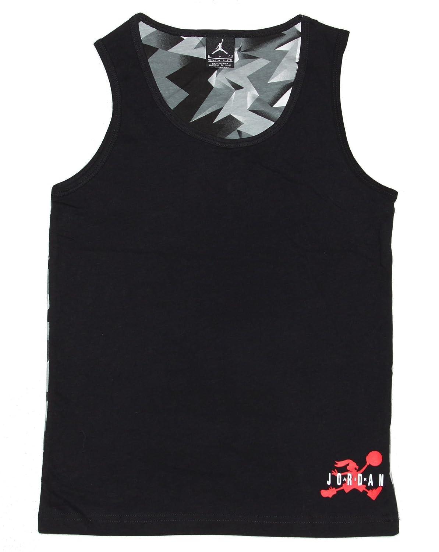 d029f219ef13 Amazon.com  Nike Big Boys  Jordan 7 Jumpman Tank Top Black Grey White  (Small)  Clothing