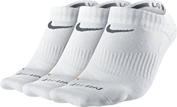 Nike No Show Socks 3PPK Dri Fit Lightweight Calcetines, Unisex Adulto, Blanco/Gris (White/Flint Grey), S: Amazon.es: Deportes y aire libre