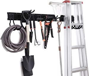 NETWAL Garden Tool Storage Racks,Garage Organizer Wall Mount 12 Pack,Adjustable ,Heavy Duty Metal Hanger,Max 265 lbs