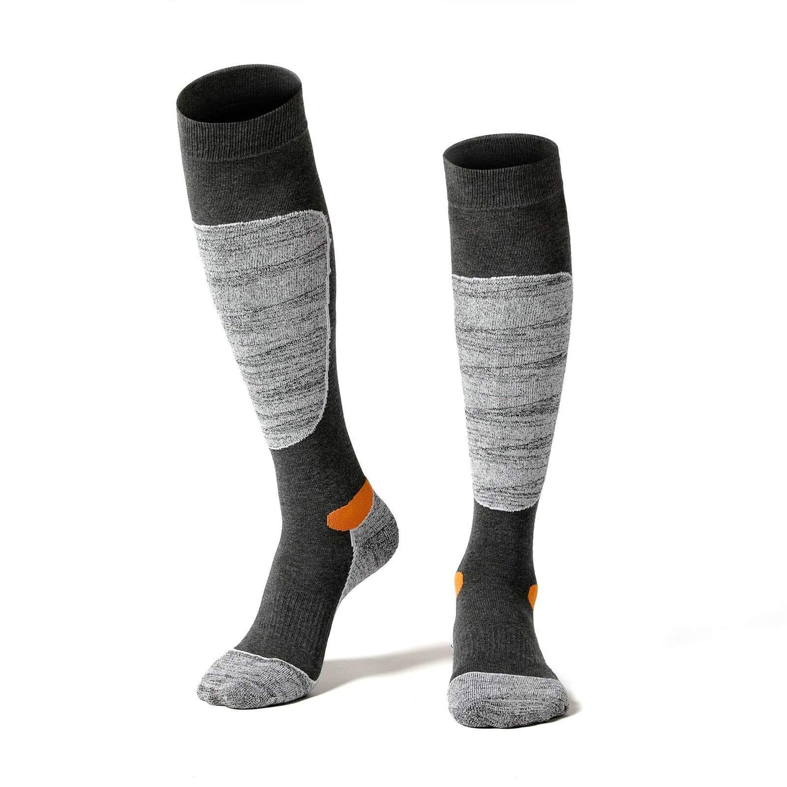 Socks Long Tube Ski Socks Thick Towel Socks Slip Insulation Sports Socks 3 Pairs Gray Gray