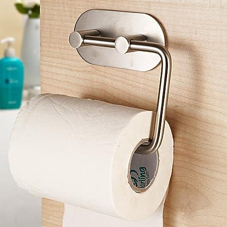 acero inoxidable toalla de papel higiénico estante toallero sin fisuras colgar toallas de incógnito fuerte portarrollos