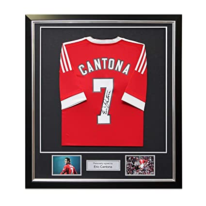 d7bfc4541 Eric Cantona Back Signed Manchester United Home Soccer Jersey In ...