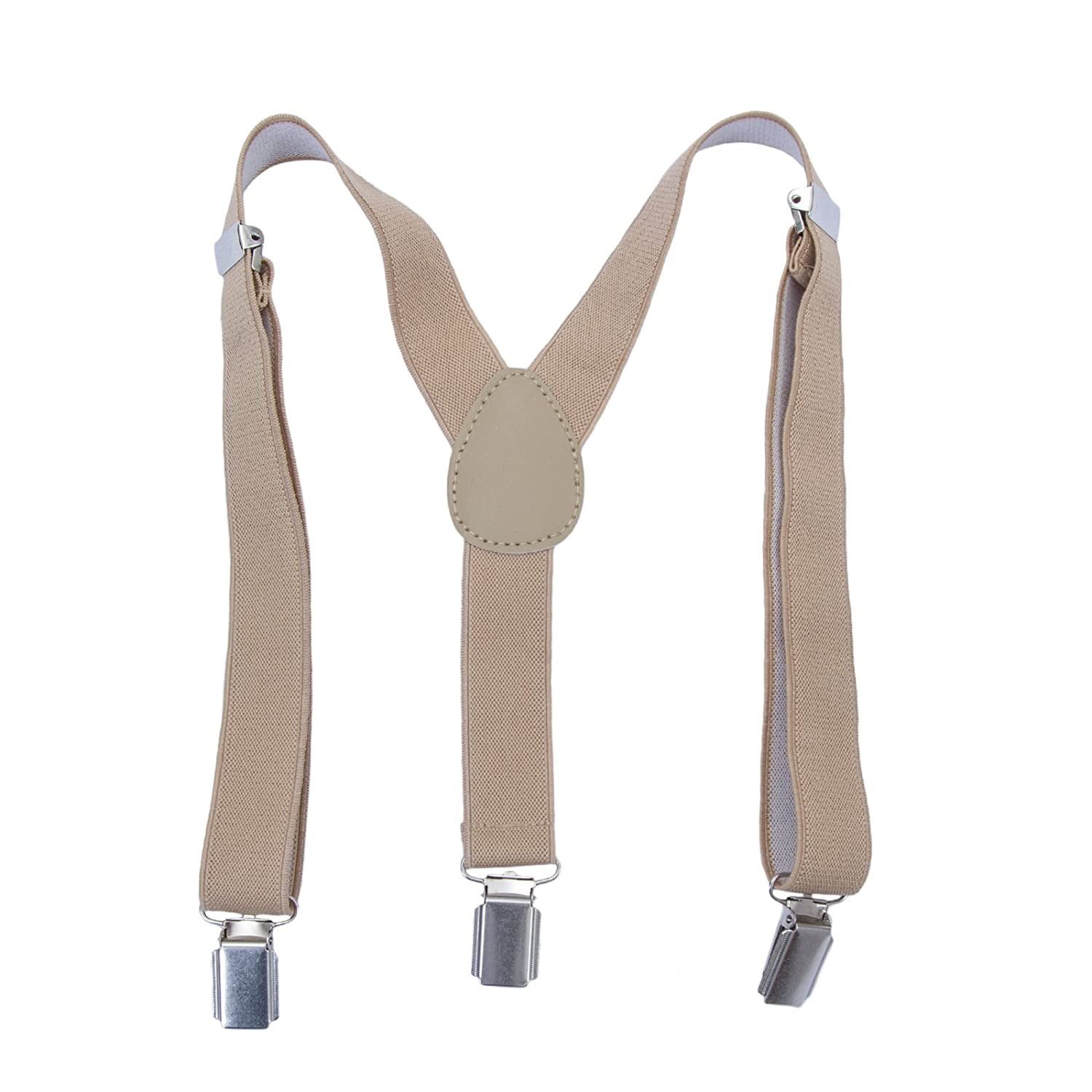 AWAYTR Boys Gilrs Adjustable Elasticated Braces - Clip on Y Suspenders for Children Kids or Babies