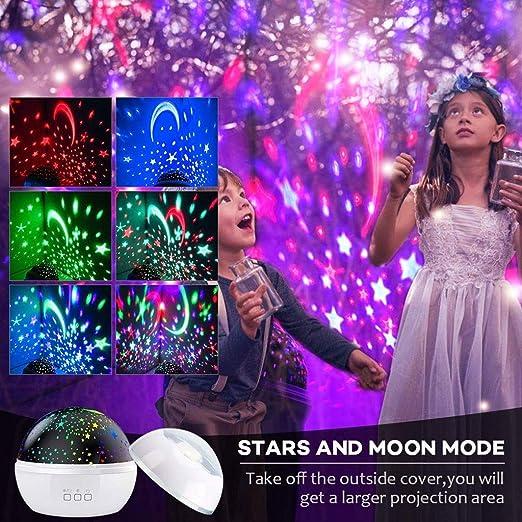 XK Proyector Giratorio de luz Nocturna Spin Starry Sky Star Master ...