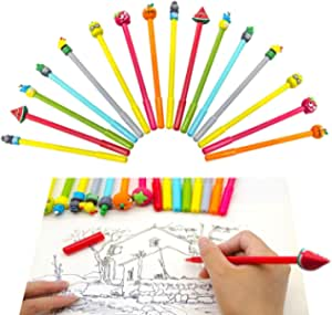 Iceyyyy 16 Pieces Cute Gel Ink Pen Cartoon Medium Point Pens for School Office Home Students Kids Gift