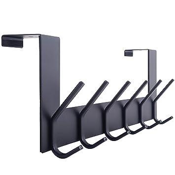 Amazon.com: WEBI - Perchero para puerta con 6 ganchos para ...
