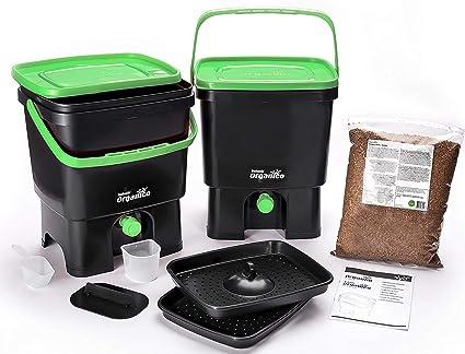 Kit Bokashi Organico con sustrato natural para la separación de residuos ...