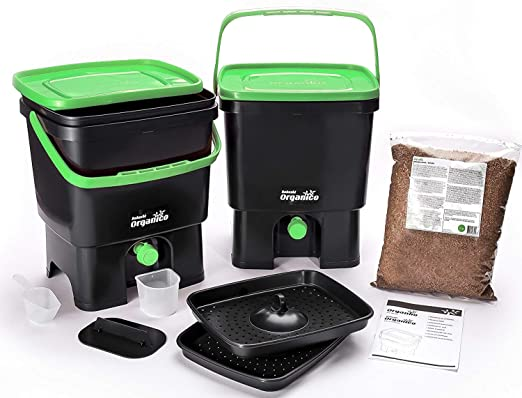 Skaza - mind your eco - Compostador para Cocina, Color Negro y ...