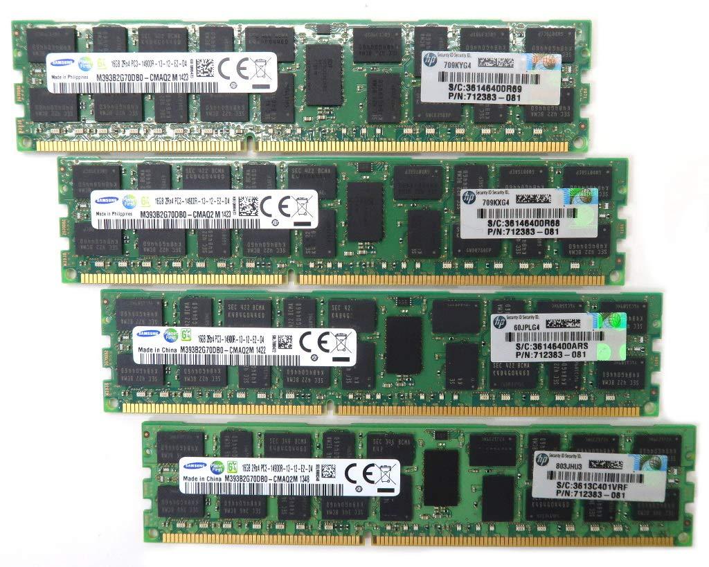 【中古】 hp 712383-081 PC3-14900R 16GB 4枚組 ECC 64GB分 16GB ECC Registered Z620/Z820等対応 712383-081 B07GTY82MQ, サンブグン:e6c76def --- integralved.hu