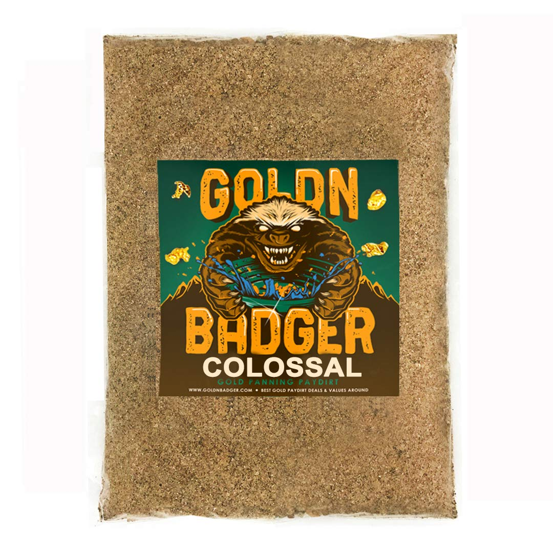 Goldn Badger 'Colossal' Paydirt Panning Pay Dirt Bag - Gold Prospecting Concentrate by Goldn Badger