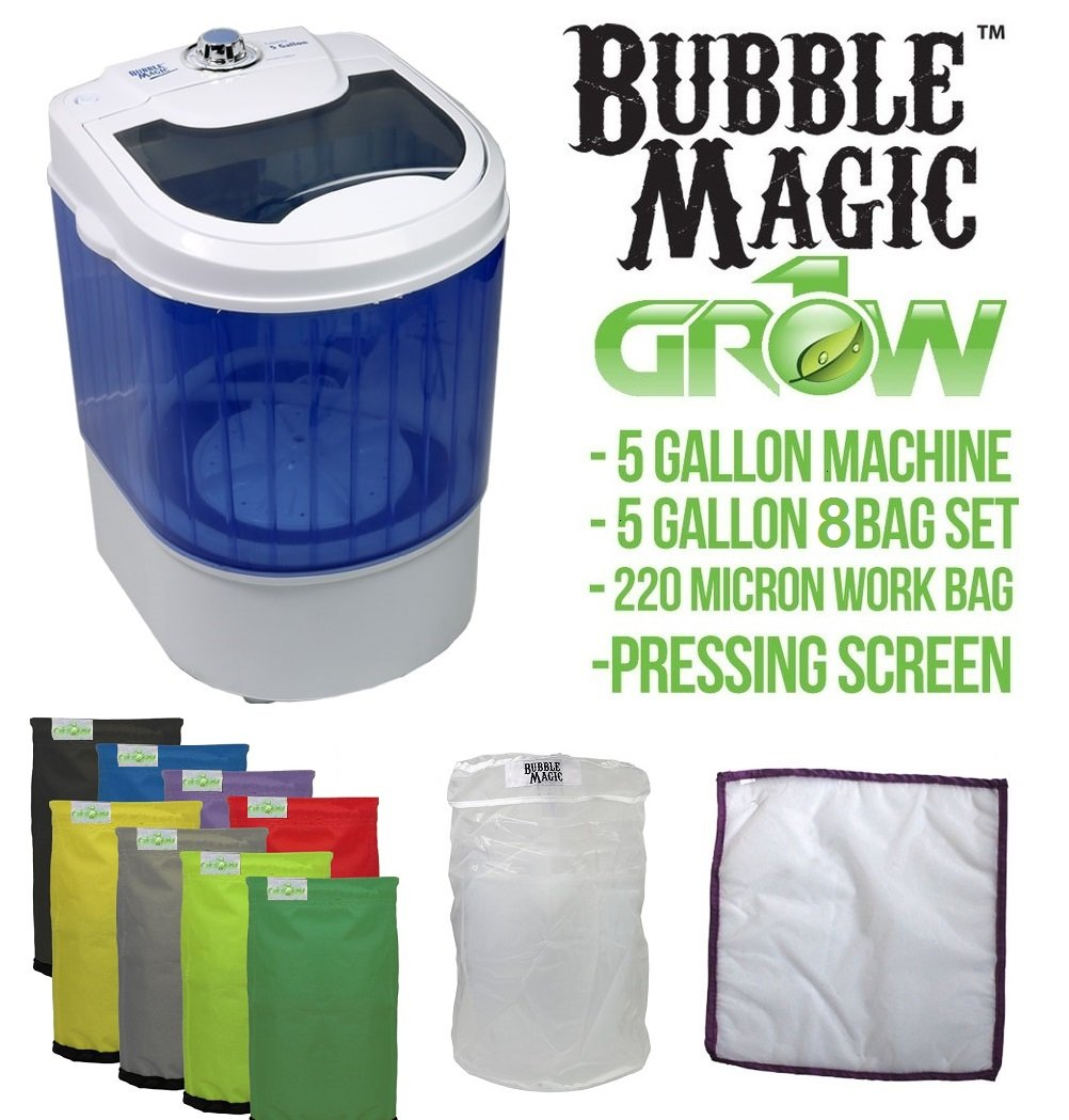 5 Gallon Bubble Magic Washing Machine + Ice Hash Extraction 8 Bags Kit GROW1 by Bubble Magic