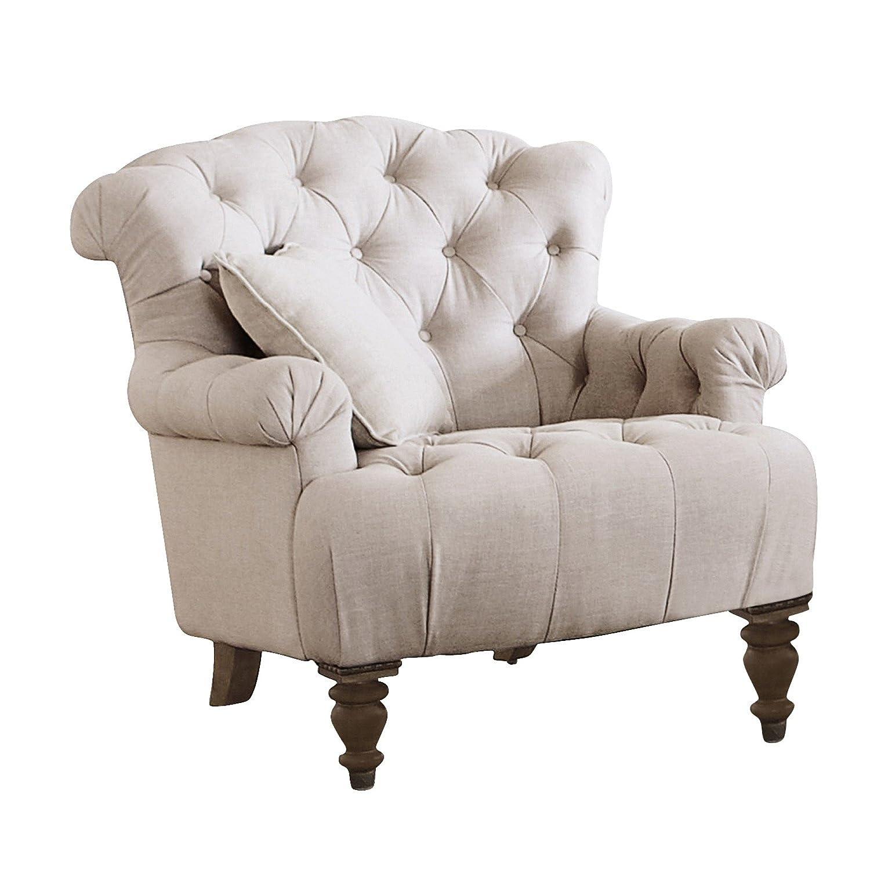 LOBERON Springfield Sessel im Chesterfield-Stil mit klassischer Knopf-Steppung, leinen