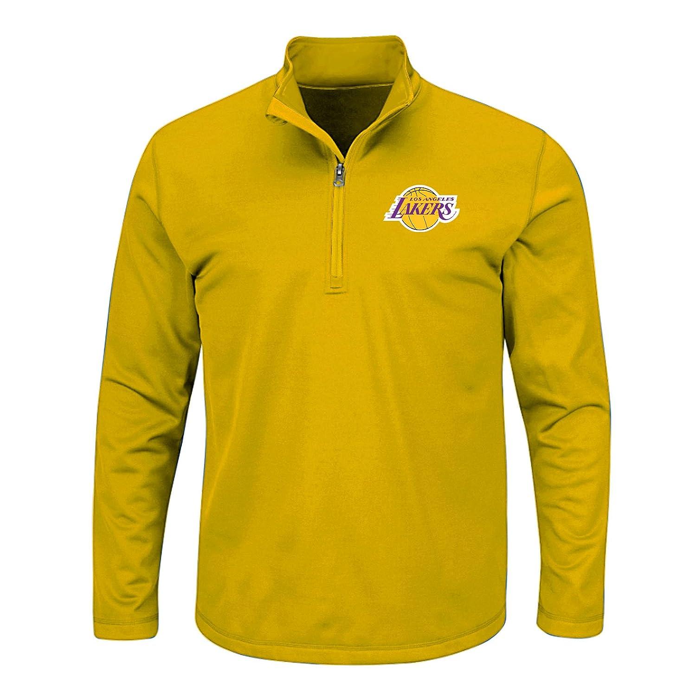 2X//Tall Gold NBA Los Angeles Lakers Mens B/&T Team 1//4 Zip Birdseye Poly Shirt
