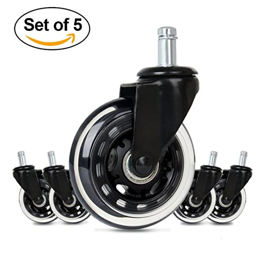 Amazon.com: Cusfull Premium Office Chair Caster Wheels Replacement Standard Size Heavy Duty & Safe for Any Floor(Set of 5): Kitchen & Dining
