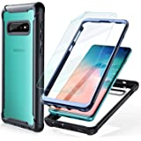 Samsung Galaxy S10 Case - FITFORT Full Body Rugged Heavy Duty Clear Bumper Case with Screen Protector, Shock Drop Proof…